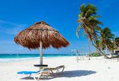 Piękna karaibska plaża — Zdjęcie stockowe
