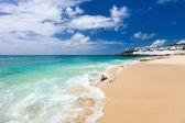 Cupecoy beach on St Martin Caribbean — Stock Photo