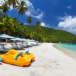 Beautiful tropical beach at Caribbean — Stock Photo #57105389