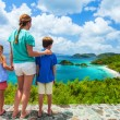Family at Trunk bay on St John island — Stock Photo #57105441
