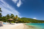 Beautiful tropical beach at Caribbean — Foto Stock
