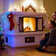 Family at home on Christmas eve — Stock Photo #57667029
