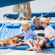 Family sailing on a luxury yacht — Stock Photo #57670067