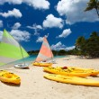 Catamarans at tropical beach — Stock Photo #57672017