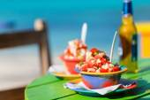 Bahamian conch salad — Stock Photo
