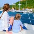 Family sailing on a luxury yacht — Stock Photo #59213587