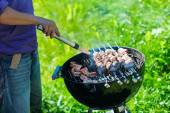 Grilling at summer weekend — Стоковое фото