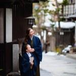 Little girl wearing yukata — Stock Photo #67539145