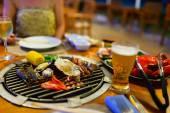 Seafood at grill — Foto de Stock