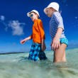 Two kids on vacation — Stock Photo #68184069