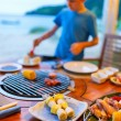 Seafood at grill — Stock Photo #68185935