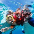 Father and son snorkeling — Stock Photo #68882077