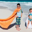 Kids at beach — Stock Photo #70713503