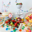 Dessert table at party — Stock Photo #74146125