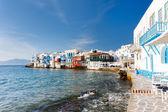Little Venice on Mykonos island, Greece — Stock Photo