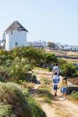 Family on Mykonos island — Stock Photo