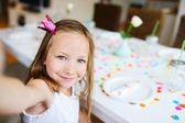 Birthday girl at party — Stock Photo