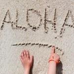 ALOHA beach vacation — Stock Photo #80874610