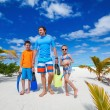 Father with kids at beach — Stock Photo #82142238