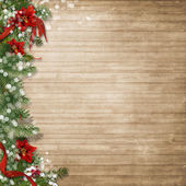 Christmas wood background — Stock Photo