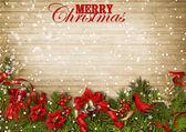 Weihnachten-holz-hintergrund — Stockfoto