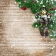 Christmas wooden background — Stock Photo #58394435
