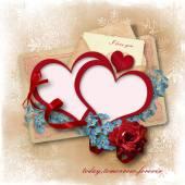 Vintage love background — Stock Photo
