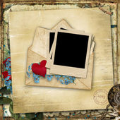 Vintage background with old love card — Stock Photo