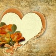 Background with roses and heart — Stock Photo #63709025