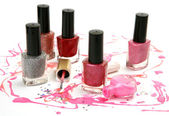 Colorful nail polish — Stock Photo