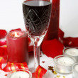 Wine and candles — Stock Photo #52779073