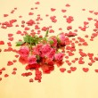 Pink roses and confetti — Stock Photo #54161077