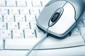 Bilgisayar fare ve klavye — Stok fotoğraf