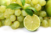 Grapes and lime — Stock Photo