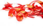 Ribbon and petals — Stock Photo