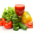 Fresh vegetables and juice — Stock Photo #54716833