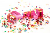 Streamer and color confetti — Foto Stock