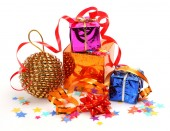 Christmas an ornament and gifts — Stock Photo