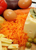 Vegetables and cheese — Stock Photo