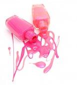 Pink nail polish — Stock Photo