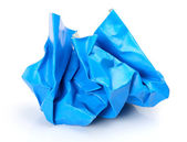 Blue crumpled paper — Stock Photo