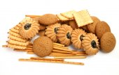 Cookies and sticks — Stock Photo