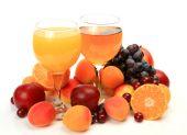 Olgunlaşmış meyve ve meyve suyu — Stok fotoğraf