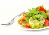 Salad from fruit and vegetables — Foto Stock
