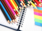 Colored wooden pencils — Stock Photo