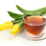 Tea and tulips — Stock Photo #57470685