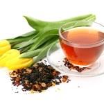 Tea and tulips — Stock Photo #57470697