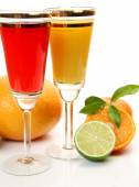 Fruits and juice — Stock Photo
