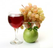 熟した果物やジュース — ストック写真