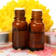 Aromatic oil and candles — Stock Photo #59972511